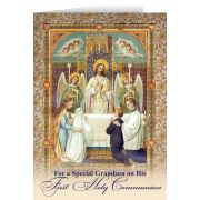Grandson's First Communion Greeting Card