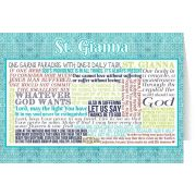 Saint Gianna Quote Holy Card 5x7in.