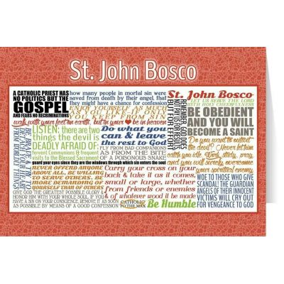 Saint John Bosco Quote Card -  - STC-Q27X