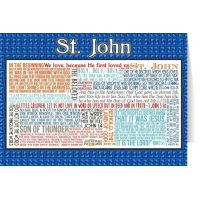 Saint John Quote Holy Card 5x7in.
