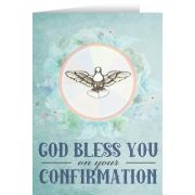 Watercolor Dove Confirmation Greeting Card