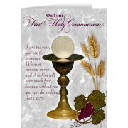 Vine and Branches Chalice First Communion Greeting Card