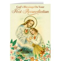 Share Blessings Sacred Heart First Reconciliation Greeting Card