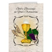 Chalice / Host Ordination 5x7in. Greeting Card