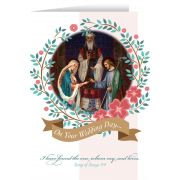 Marriage of Joseph and Mary Wedding Greeting Card