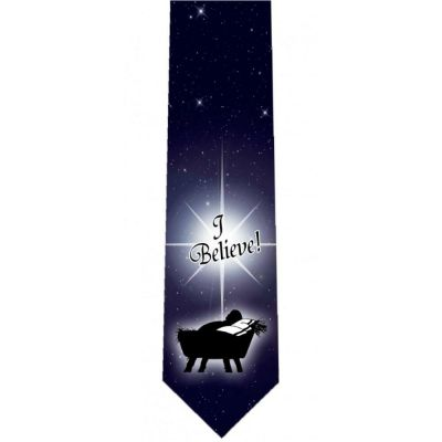 I Believe Christian Catholic Themed Neckties -  - TIE-WB