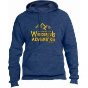 Wonderful Adventure - Pope Saint John Paul II Heather Navy Hoodie