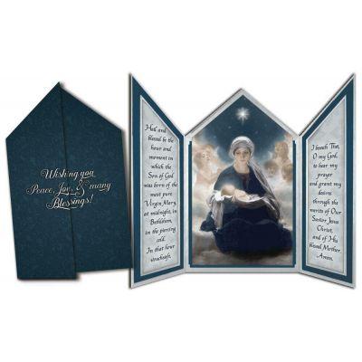 Star of Bethlehem Tri-fold Triptych Christmas Cards -  - TFC-C111