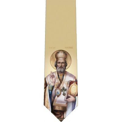 Saint Nicholas Glossy Poly Satin Necktie -  - TIE-344