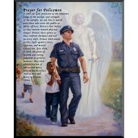Protector: Police Guardian Angel Wall Plaque w/Prayer for Policemen