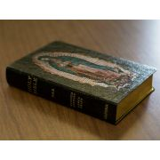 Personalized Bible Our Lady of Guadalupe Black Genuine Leather NABRE