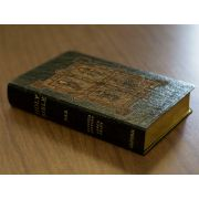 Personalized Text Bible Book of Kells Black Genuine Leather NABRE
