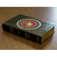 Personalized Text Bible Marines Cover Real Genuine Leather NABRE
