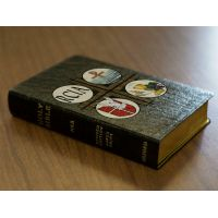 Personalized Text Bible w/RCIA Cover - Black Real  Leather NABRE