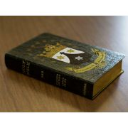 Personalized Bible Discalced Carmelite Crest Genuine Leather NABRE
