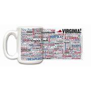 Virginia State Ceramic Mugs,