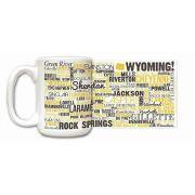 Wyoming State Ceramic Mugs,