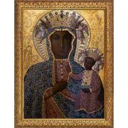 Black Madonna of Czestochowa - Gold Framed Art