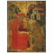 St. Jerome Rustic Wood Icon Plaque