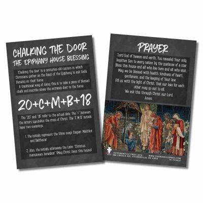 Epiphany Home Blessing Explained Card -  - SC-FCHALK