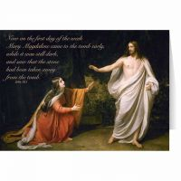 Mary Magdalene Encounters Jesus Easter Season Greeting Card