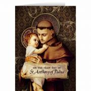 St. Anthony with Jesus Feast Day Greeting Card