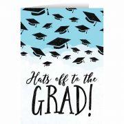 """Hats Off"" Graduation Greeting Card"