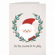 Tis the Season to Be Jolly with Santa Christmas Cards