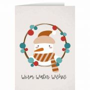 Warm Winter Wishes with Snowman Christmas Cards