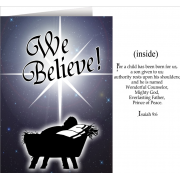 We Believe Greeting Christmas Cards