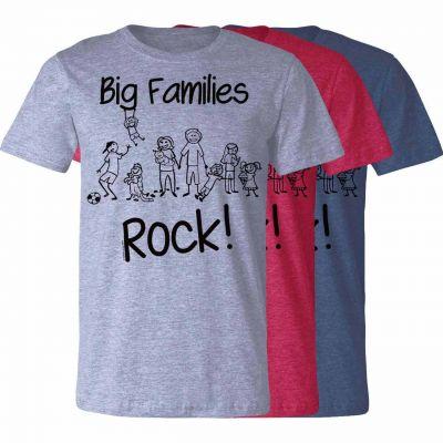 Big Families Rock T-Shirt -  - T-BFR