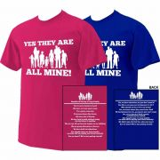Yes They Are All Mine! Large Family T-Shirt