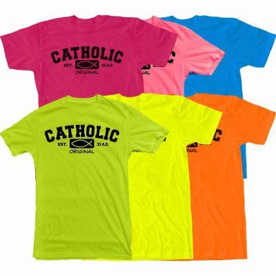 Catholic Original Neon T-Shirts -  - T-OCNEON