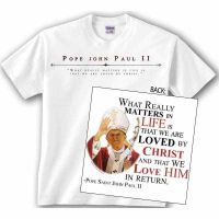 Saint Pope John Paul II Waving Value T-Shirt
