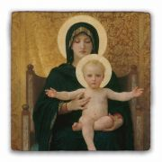 Virgin and Child Square Tumbled Stone Tile