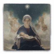 Star of Bethlehem Square Tumbled Stone Tile