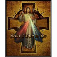 Divine Mercy Cross Graphic Wall Plaque