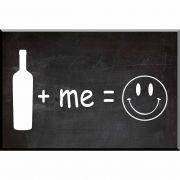 Wine + Me = Happy Wall Plaque