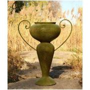Abraham Urn w/Iron Handle 36in. - Fiber Stone Resin - Outdoor Statue