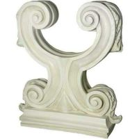 Acanthus Double Leaf Base 29in. Fiberglass In/Outdoor Statue