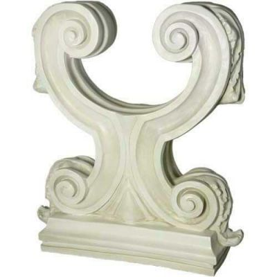 Acanthus Double Leaf Base 29in. Fiberglass In/Outdoor Statue -  - F8447