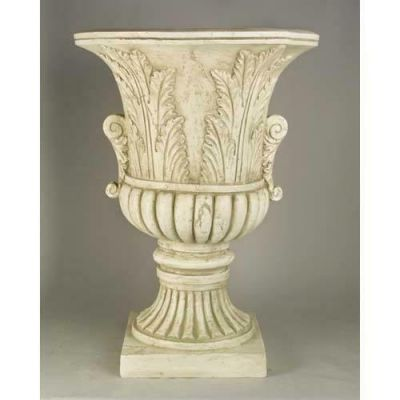 Acanthus Leaf Urn 30in. Fiberglass Indoor/Outdoor Garden Statue -  - F10201