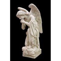 Adoration Kneeling Angel (Praying) 56in. Fiberglass Outdoor Statue