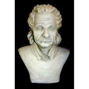 Albert Einstein Bust Small 9in. Fiberglass In/Outdoor Statue