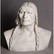 American Indian - Fiberglass 28in. Indoor/Outdoor Garden Statue