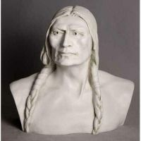 American Indian - Fiberglass 28in. Indoor/Outdoor Garden Statue