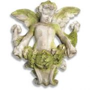 Angel Gliding Looking Left/Right Fiberglass Outdoor Wall Mount Statue