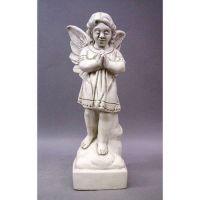 Angel In Prayer 19in. Fiberglass Indoor/Outdoor Garden Statue