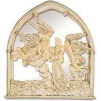 Angels Of The Sea Mirror 10in Fiberglass Indoor/Outdoor Statue
