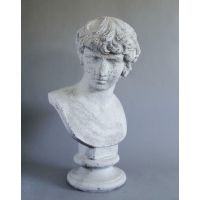 Antinous 26in. (From Stefano) - Fiber Stone Resin - Outdoor Statue